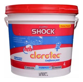 Cloro Shock Polvo Clorotec Disolucion Instantanea 4kg Rex
