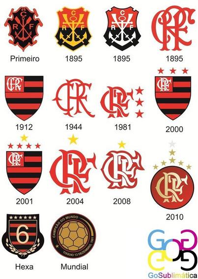 Kit C/14 Azulejo Personalizado Flamengo Evolução 20x20