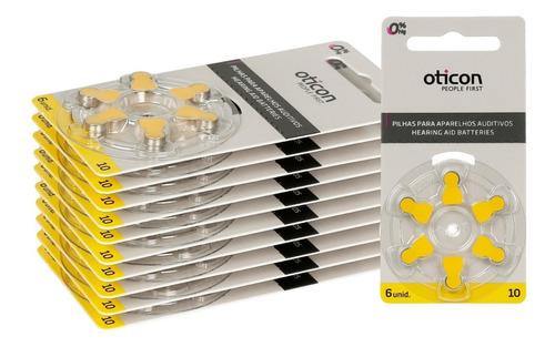 Kit 30 Baterias Pilhas Aparelho Auditivo A10 / Pr70 Oticon