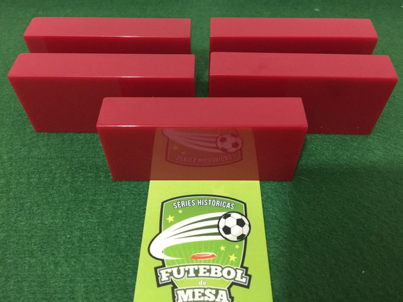 5 Goleiros De Plástico Vermelhos - Futebol De Mesa