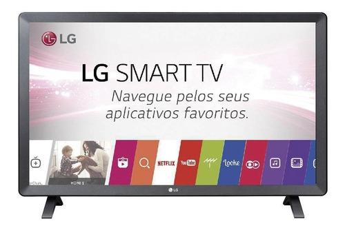 Imagem 1 de 8 de Smart Tv Monitor Led 23.6´ LG, 2 Hdmi, 1 Usb, Wi-fi 24tl520s