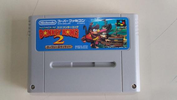 Jogo Super Nintendo Donkey Kong 2 Original - Frete Grátis
