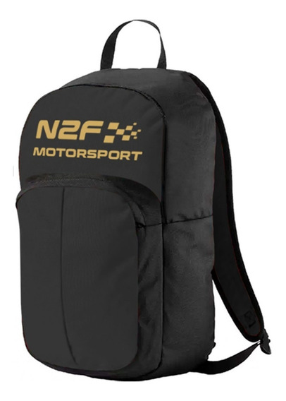 Backpack Mochila N2f Motorsport Bp014 Negro Y Dorado