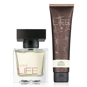 Presente Avon Life,perfume Life 75ml E Loção Pós-barba 100ml