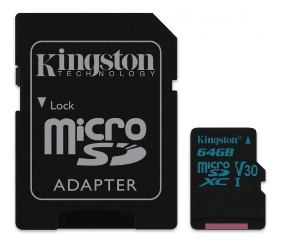 Cartão Kingston Micro Sdxc 64gb Uhs-1 C10 U3 V30 90mb/s