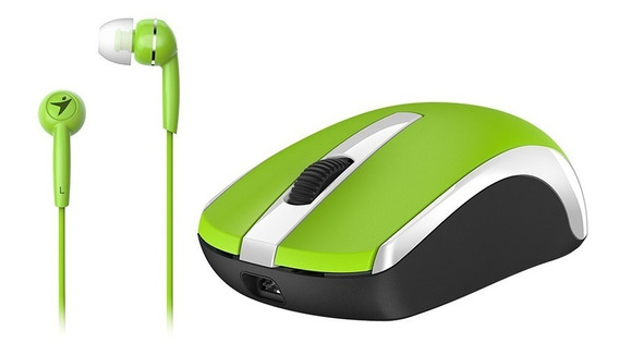Combo Mouse+audfifono Mh-8100 Verde Genius