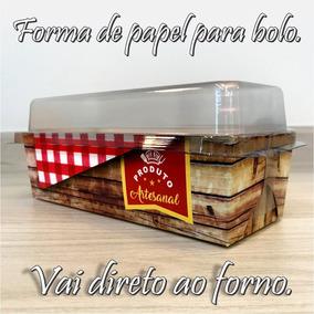 Forma De Papel Bolo Inglês Forneável Com Tampa (100 Unid.)