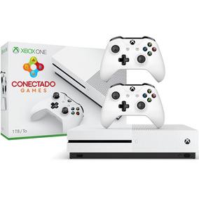 Console Microsoft Xbox One S Hd 1tb 4k Branco 2 Controles