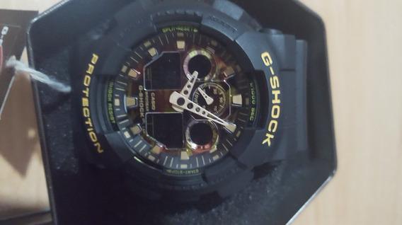 Reloj Casio G-shock Negro Con Tablero Camuflado