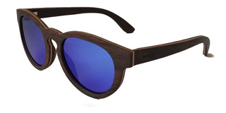 Gafas Anteojos Sol 100% Madera Woot8 - Glam Ebony Blue 2