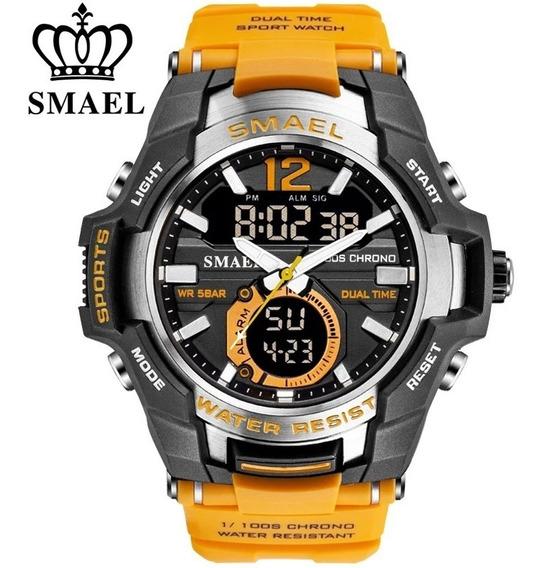Relógio Smael 1805 Esportivo Original Na Caixa Prová D Água