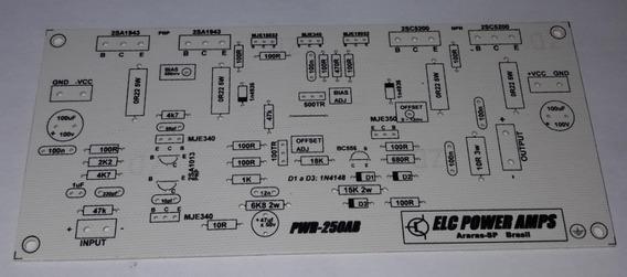Placa Para Montar Amplificador De 250w Rms 4 Ohms Hi End