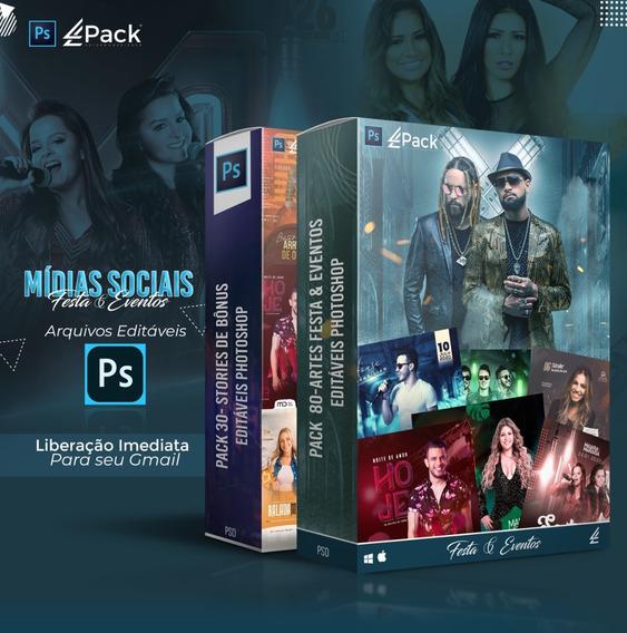 Pack 80-artes Festa & Eventos Editáveis Photoshop