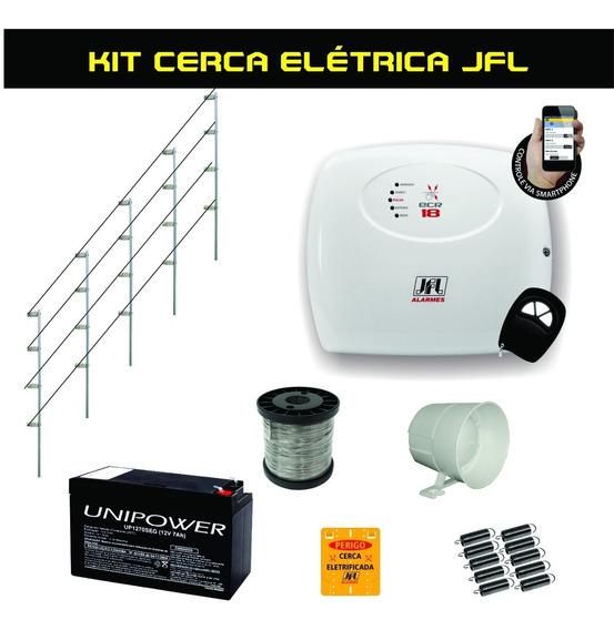 Kit Cerca Elétrica Completa Jfl Ecr 18 P/ Muros De 60 Metros