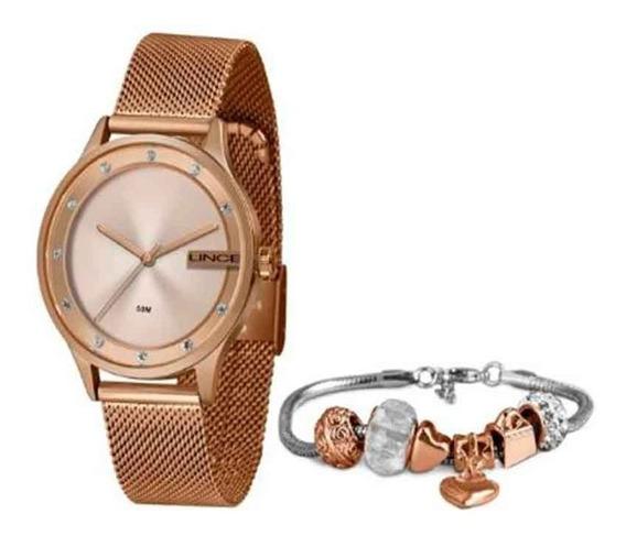 Relógio Feminino Lince Com Pulseira Rose Lrr4623l Ke28r1rx