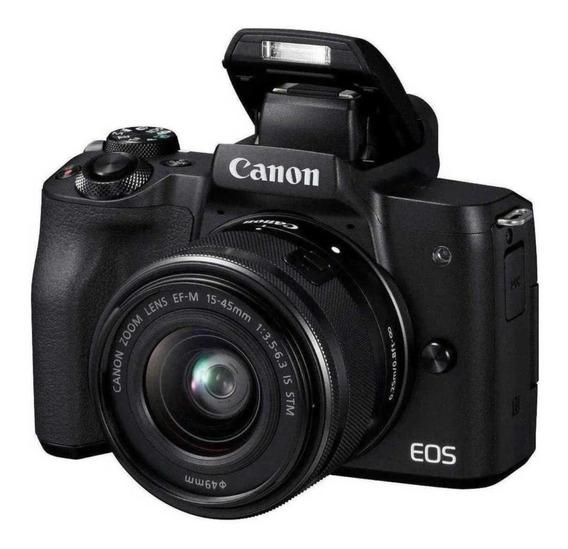 Canon Eos M50 15-45mm Is Stm Kit Mirrorless Com Garantia