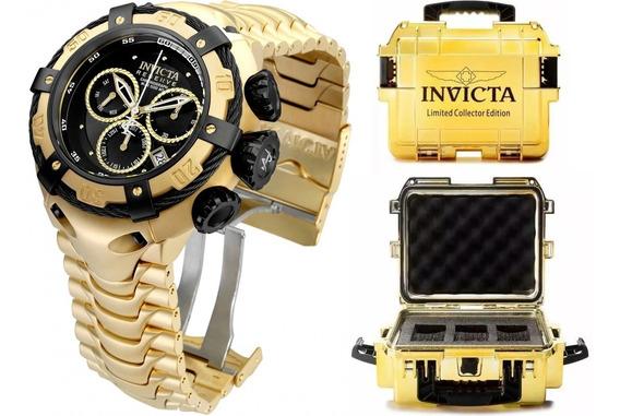 Relógio Invicta Bolt 21346 Original Banhado Ouro Maleta