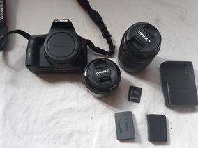 Canon Sl1 + 18-55 E 50mm E Duas Baterias + Cartão 32gb