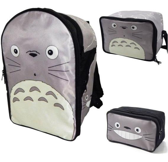 Mochila Totoro Combo Lonchera Lapicera Vecino Envio Gratis