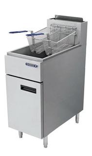 Freidora industrial Sobrinox Fryer 19.5-3Q plata