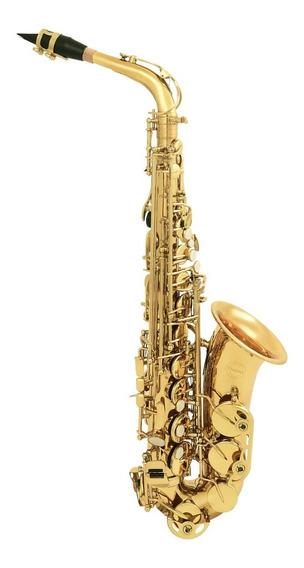 Amw Custom Saxofone Alto Laqueado Top Eb Mi Bemol + Estojo