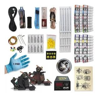 Kit Tatuaje 2 Máquinas 40 Tintas 20 Agujas 100% Original