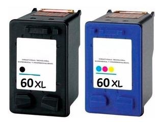 Cartuchos Alternativo 60 Xl Combo Negro Y Color Full!