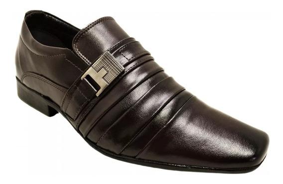 Sapato Masculino Social Confortavel Bertelli 70019 Marrom