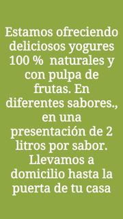 Yogures 100% Natural Con Pulpa De Frutas - kg a $6