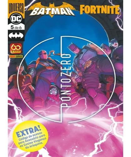 Imagem 1 de 1 de Batman Fortnite Vol.5  Com Mochila Arlequina Panini