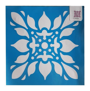Stencils Estarfácil Decorativo | Azulejo | Mandala | 25x25cm
