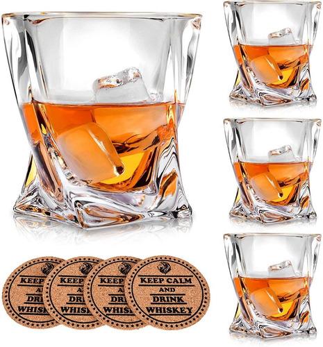 Vasos De Whisky Cristal Escoces Premium 4 Und Oferta