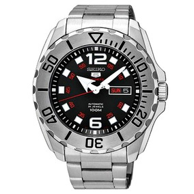 Relógio Seiko Masculino Prata Com Preto Srpb33b1 100mt