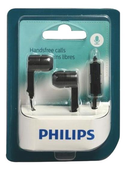Fone De Ouvido Philips C/ Microfone She1405bk/10 P3 Preto