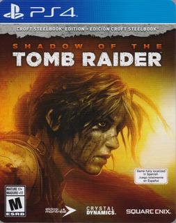 Shadow Of The Tomb Raider Croft Steelbook Ps4 Nuevo Karzov