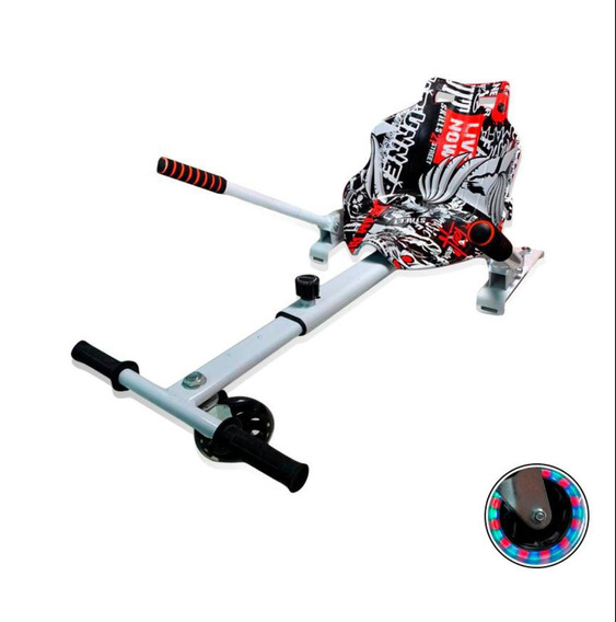 Hoverkart Carrinho P Hoverboard Universal 6-10 Branco/preto