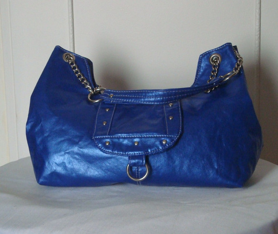Cartera Color Azul Tipo Bolso