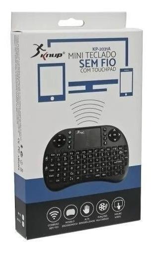 Teclado Mini Sem Fio Com Touch Knup Original Kp-2031a