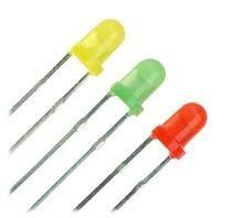 Led Difuso 3mm, Pacote 100 Peças, Amarelo, Verde E Vermelho