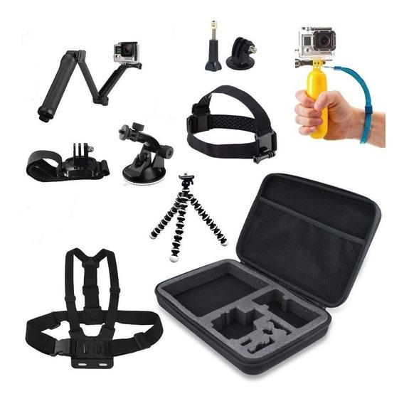 Kit Aventura Acessorios Gopro Com 9 Pecas - [kit Go Pro]