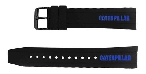 Correa Cat  De Goma Negra - Azul - Nj 161gna