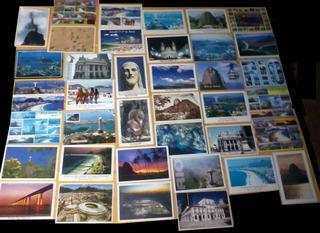 Compre 38 Cartões Postais Leve + 3 Cartões Grandes Total 41