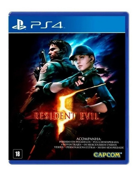Jogo Resident Evil 5 Ps4 Remasterizado Mídia Física Original