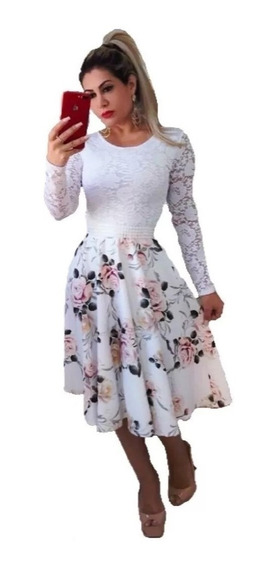 Vestido Noiva Casamento Civil Moda Evangélica Modesto Midi