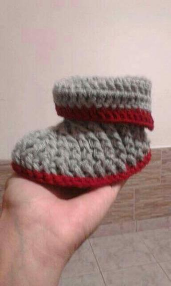 Pantuflas Niños Tejidas En Crochet