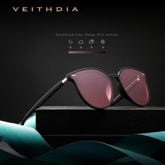Óculos De Sol Veithdia Feminino Fotocromático Polarizados Uv