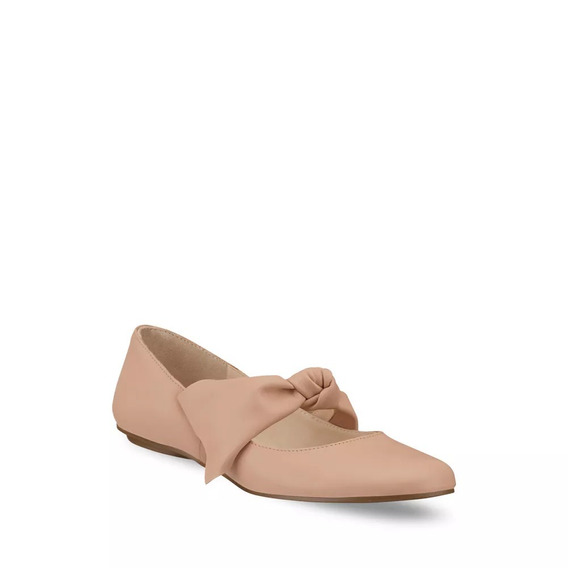 Flat Mary Jane Mujer Beige Andrea 2018