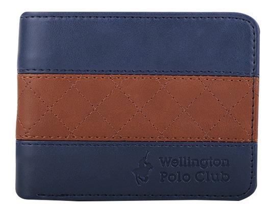 Billetera Wellington Polo Orginial Hombre Cuero Pu Diseño