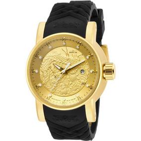 Relógio Invicta Yakuza 15863 Automático Banhado Ouro 18k