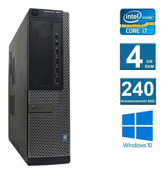 Computador Dell Optiplex 7010 I7 3º Geração 4gb 240ssd